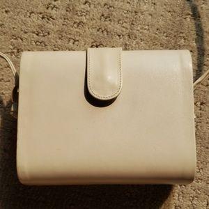 Stuart Weitzman Bone Leather Shoulder Purse Bag